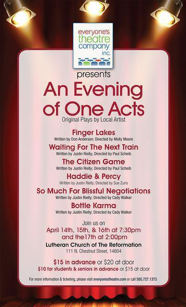 An Evening of One Acts, Original Plays by Local Artists