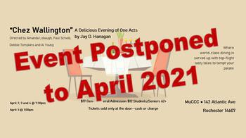 COVID-19 Update - Chez Wallington Postponed